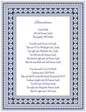 Navy Classic Lotus Borders Enclosure Cards