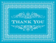 Calypso Deco Tile Borders Thank You Cards