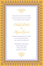 Mustard Nouveau Frame Border Invitations