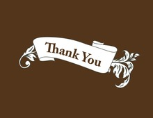 Traditional Vintage Leaf Brown Thank You Cards