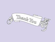 Fine Vintage Leaf Lavender Thank You Cards