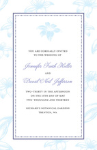Blue Casablanca Decorated Lily Rose Invitations