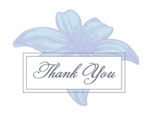 Blue Casablanca Lily Thank You Cards