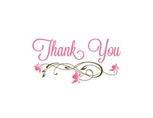 Floral Flourish Thank You Cards