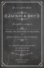 Silent Movie Chalkboard Frame Invitations
