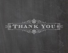 Silent Movie Chalk Frame Thank You Cards