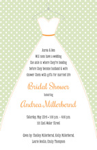 Stitched Bride Polka Dots Sage Bridal Invitations