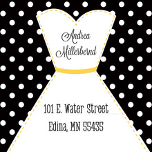 Stitched Bride Polka Dots Black Stickers
