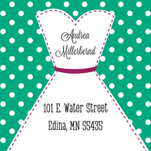 Stitched Bride Polka Dots Emerald Stickers
