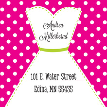 Stitched Bride Polka Dots Hot Pink Stickers