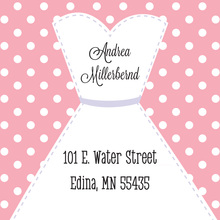 Stitched Bride Polka Dots Pink Stickers