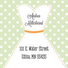 Stitched Bride Polka Dots Sage Stickers