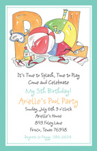 Pool Time Aqua Invitation