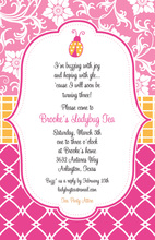 Preppy Lady Bug Invitation