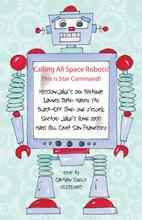 Retro Robot Invitation