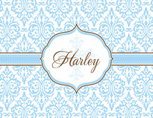 Fancy Blue Cross Thank You Cards