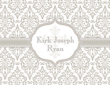 Fancy Taupe Cross Thank You Cards