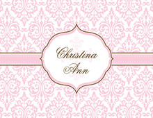 Fancy Pink Cross Thank You Cards