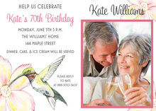 Sweet Hummingbird Shower Invitations