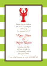 Traditional Red Lobster Symbol Rehearsal Invitations
