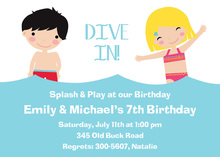 Girl & Boy Swim Invitation