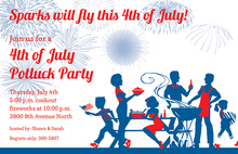 Patriotic Family BBQ Invitations