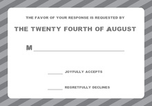 Modern Grey Stripe RSVP Cards