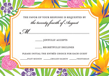 Tropical Paradise RSVP Cards