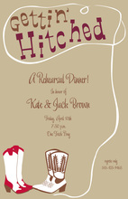 Western Hitched Khaki Invitations