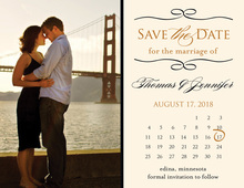 Save the Date Calendar Enclosure Cards