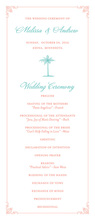 Coral Border Turquoise Palm Invitations