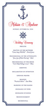 Nautical Navy Border Invitations