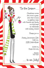 Holiday Diva Cocktails Invitation