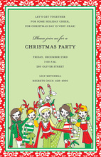 Holiday Girls Invitation
