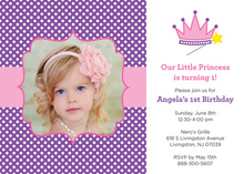 Princess Photo Birthday Invitations