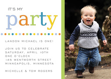 It's My Party Photo Cards Invitation