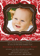 Bandana Buckaroo Photo Invitations