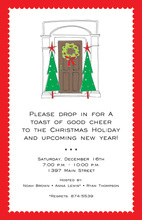 Holiday Festive Entrance Invitation