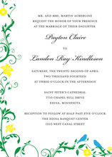 Loving Two Birds Together Invitations