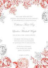 Exquisite Rose Peony Floral Invitations