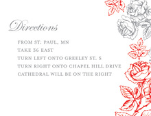 Formal Rose Peony Floral Enclosure Cards
