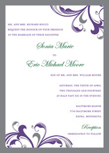 Stylish Formal Swirls Scrolls Wedding Invitations