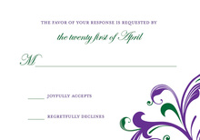 Charming Swirls Scrolls RSVP Cards