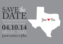 Love In Texas Save the Date Cards