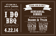 I Do BBQ Casual Wedding Barbeque Invitations