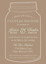 Kraft Mint Looks Mason Jar Invitations