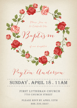 Vintage Ring Romantic Wedding Roses Invitations