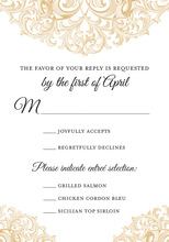 Victorian Revival Gold RSVP Cards