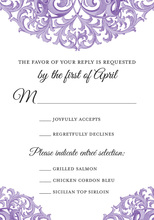 Victorian Revival Purple RSVP Cards