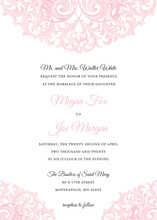 Elegant Design Victorian Revival Pink Invitations